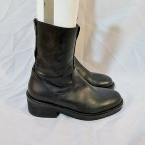 ANN DEMEULEMEESTER Italy Ankle Moto BOOT Leather